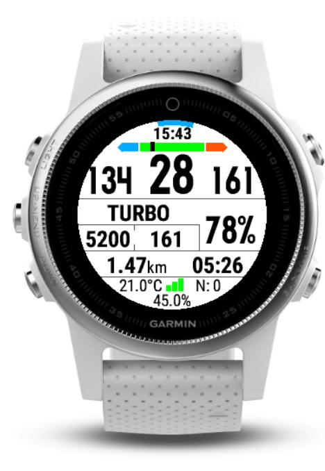 Ebike Field - Nerd Style on Garmin Fenix 5S